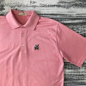 Men's PETER MILLAR Golf Polo shirt Pink M